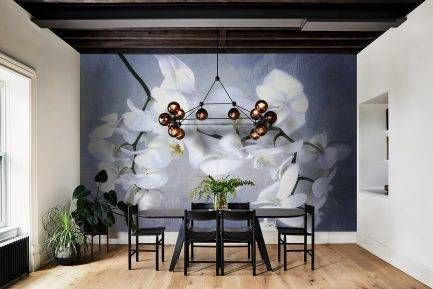 mural design, luxurious wallpaper, floral wallpaper, white wallpaper, bedroom wallpaper, living room wallpaper, custom wallpaper, designer wallpaper, mural wallpaper, mural wallpaper in UAE, office wallpaper, hotel wallpaper