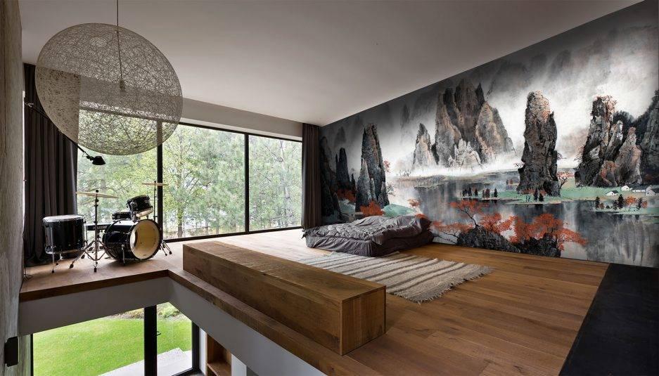asian design, japanese interior, bedroom interior, office interior,