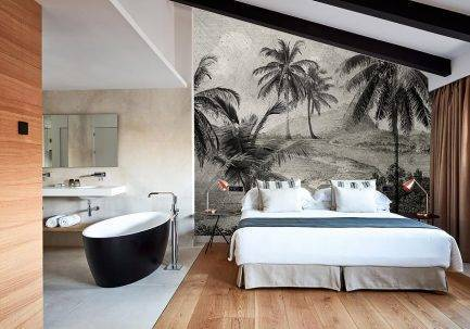 tropical interior, botanical interior, modern home décor, modern jungle design,