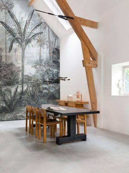 dark wallpaper, grey mural, removable wallpaper, easy to installed wallpaper,