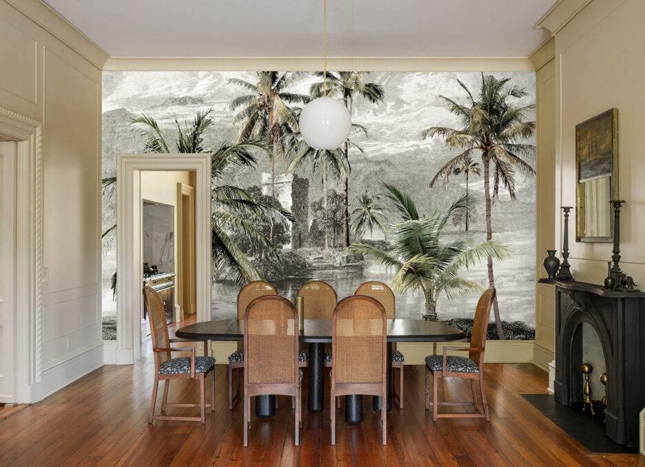 nature inspired wallpaper, wall mural, wallpaper design, beach wallpaper, tropical wallpaper, summer wallpaper