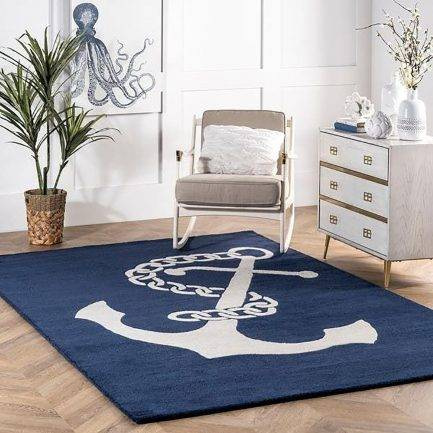 white carpet, anchor pattern rug, best rug design, flooring interior