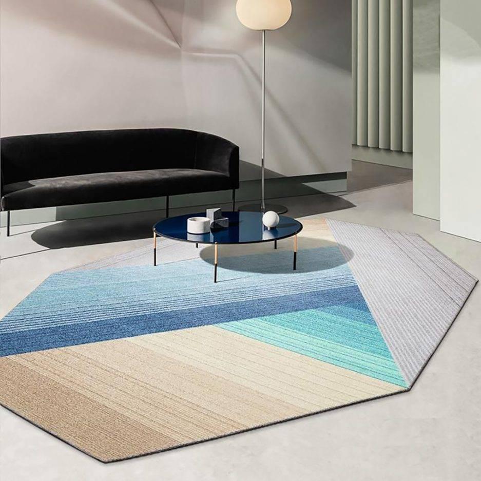 hexagonal rugs, geometric carpet, luxury rugs, top carpet styles, abstract carpet,
