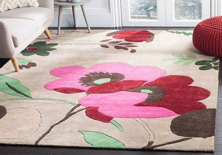 pink carpet, girls bedroom carpet, floral carpet, modern rug design, rug ideas for living room