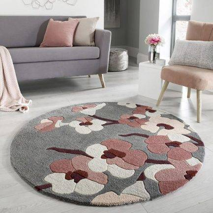 white carpet, pink carpet, floral rugs, top selling rugs in dubai,