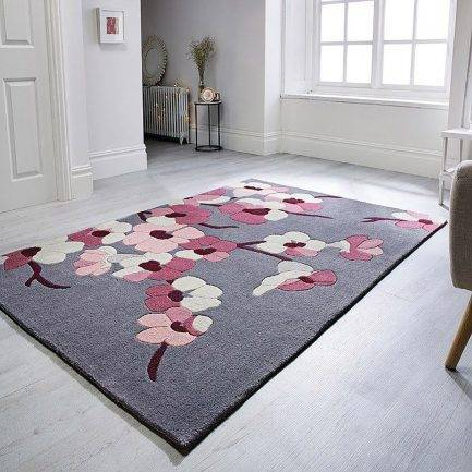 floral rugs, pink wallpaper, bold carpet design, home carpet ideas, best selling carpet