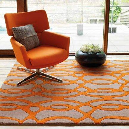 orange rugs, trendy rug ideas, top carpet design