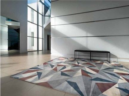 geometric carpet, triangular rugs, custom rugs, designer rugs