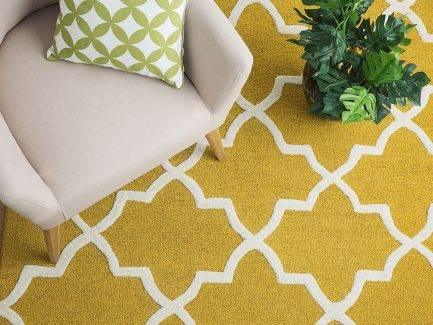 morrocan rugs, persian rugs, yellow carpet, linear patterned rugs