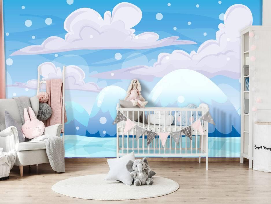 kids wallpaper, children interior, nursery wall ideas, kids school wall design
