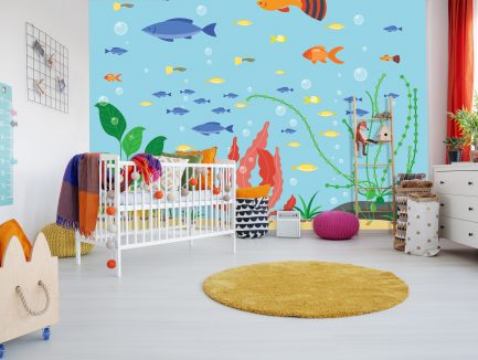 kids mural, colorful wallpaper, boys wallpaper, affordable wallpaper, wallpaper ideas for school