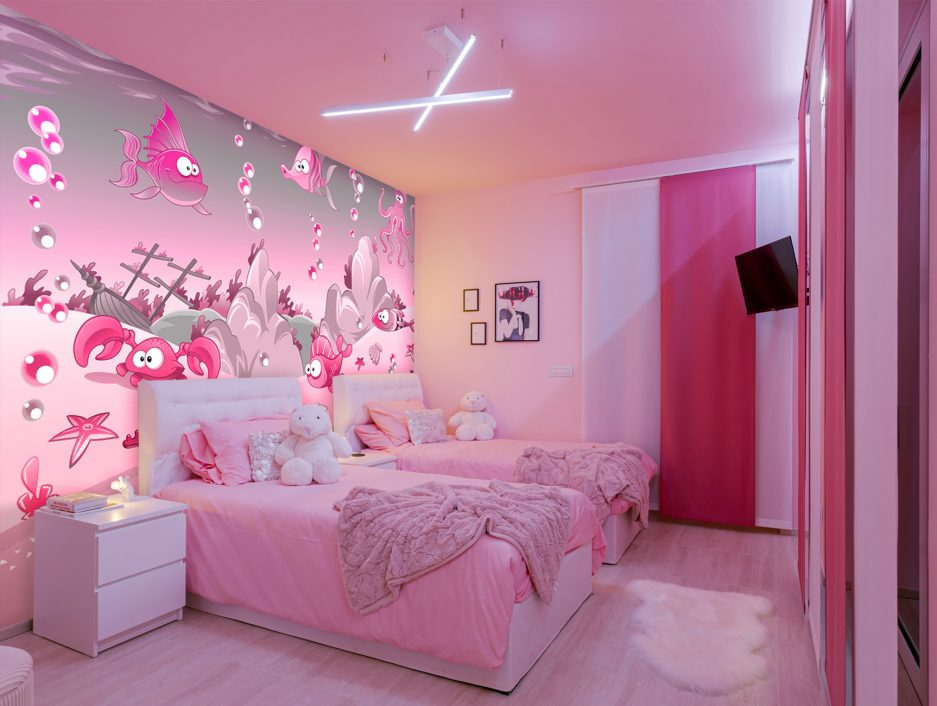 pink wallpaper, nursery mural, girls bedroom wall ideas, best interior tips for girls, free wallpaper sample