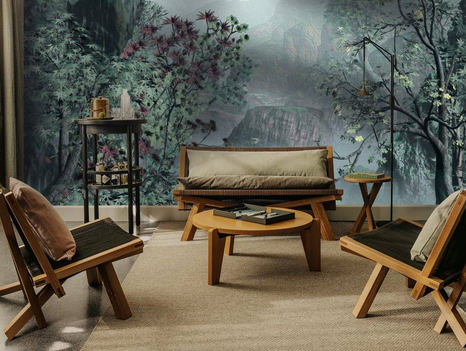 sunrise wallpaper, nature wallpaper, office reception ideas, bedroom decor, bathroom wallpaper,